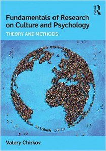 New Book Release from SDT Faculty Member Valery Chirkov – 'Fundamentals of Research on Culture and Psychology: Theory and Methods'